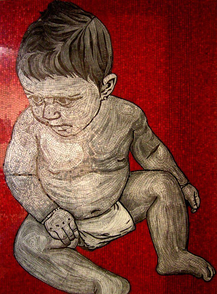 Mosaico de una niña 166 x 122 cm