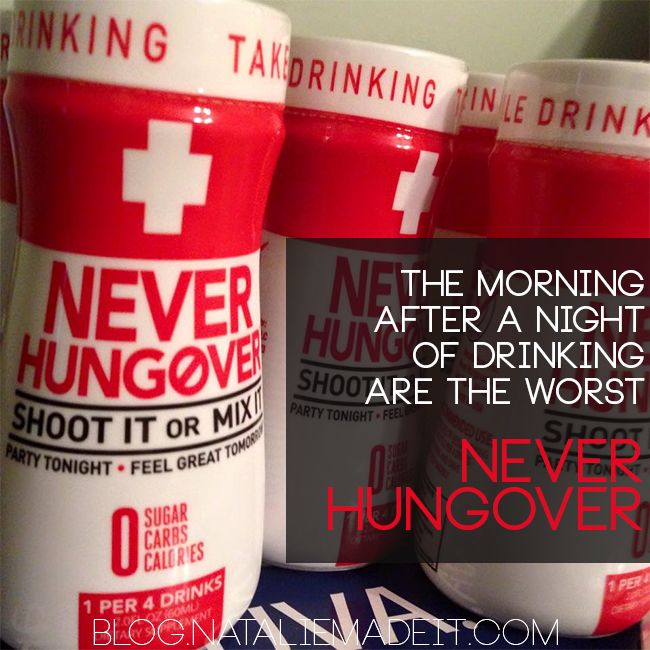 The morning after a night of drinking is normally the worst. Do you need a Hangover Prevention? try Never Hungover.