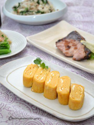 ゼラチン活用術②~ふんわり卵焼き、やわらかブリの塩焼き。の晩ご飯 ...