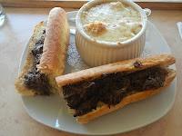 Beef Bourguignon Baguette with Onion Soup (Chez Meme Baguette Bistro - Burnaby, BC)