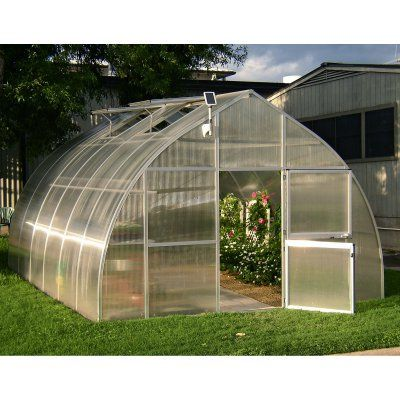 Hoklartherm RIGA XL 14.1 x 19.8-ft. Greenhouse Kit with Optional Foundation Frame