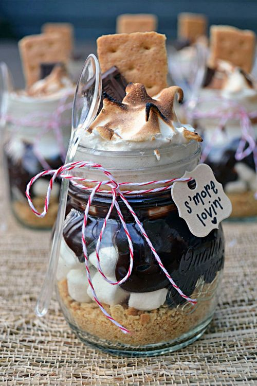 S'more jars cute food sweet chocolate jars dessert gifts