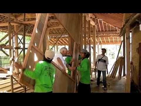 teak wooden house