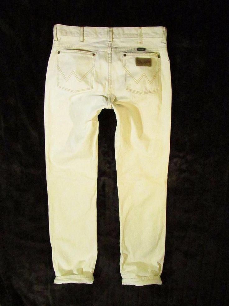 mens jeans Wrangler  straight leg  white jeas 33/36 #Wrangler #ClassicStraightLeg