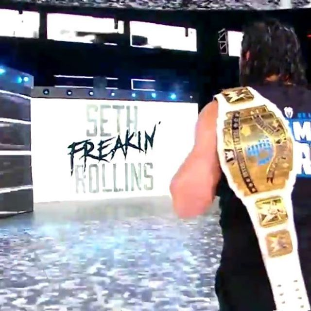 Seth_Rollins_Entrance_(HAS_BURN_IT_DOWN_BEEN_BURNED_DOWN_) RAW Follow [ @TheReig...