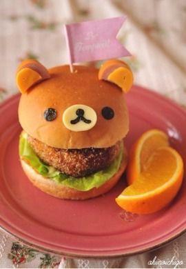 Una hamburguesa kawaii para gente kawaii •w•
