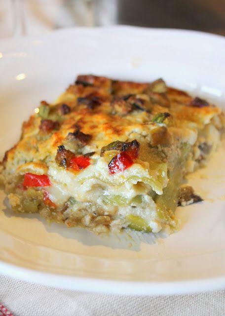 """Lasagne verdi con Verdure e Crema di Ricotta """"Adoro la pasta fresca e le lasagne sono le mie preferite! Con una po' di fantasia questo è un primo che si può variare in mille modi per ottenere sempre u"""