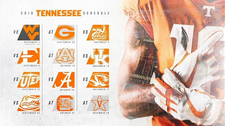 Tennessee releases 2018 Football Schedule