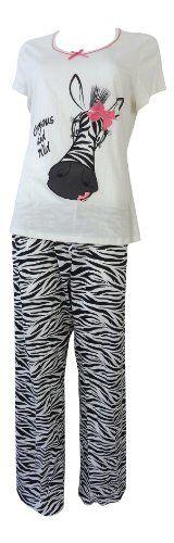 Ladies Marks & Spencer Jersey Leopard Trousers + T-Shirt Pyjamas PJs Pajama Set: Amazon.co.uk: Clothing