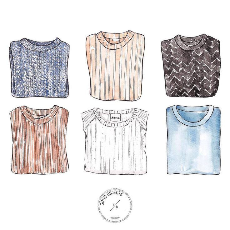 Good objects - Sweater weather #goodobjects #watercolor #illustration