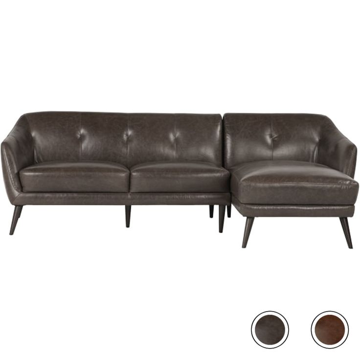 Nevada Right Corner Sofa, Antique Grey Leather from Made.com. Express delivery. Stop searching - the Nevada collection is it. This leather corner so..
