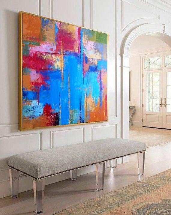 Abstract Painting, Abstract rainbow, Contemporary Art, Palette knife, Art painting, Abstract canvas art, Colorful Collectible Painting, Art