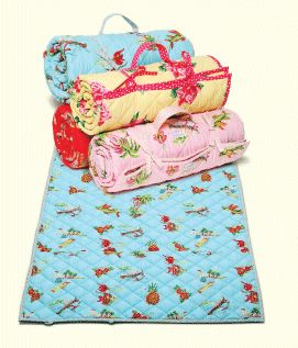 roll up toddler nap mats with built in pillow and attached blanket, maybe with sleeping bag zipper?