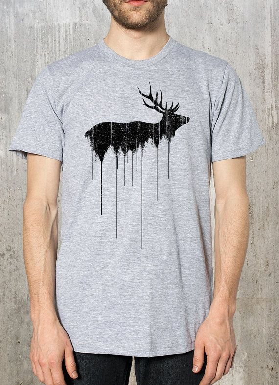 For Zach Elk Above Treeline Street Art - Men's Graphic Tee - American Apparel - Available in S, M, L, XL and 2XL