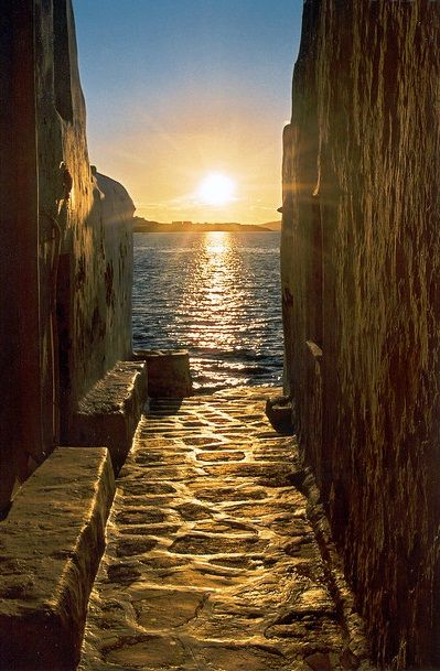 Magical sunsets on our luxury yoga retreat in Mykonos, Greece.
