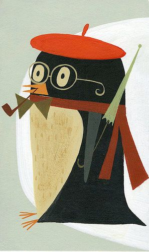 """I already have this print, ready to be framed and hung in the nursery--""""Penguin"""" by Matte Stephens"""