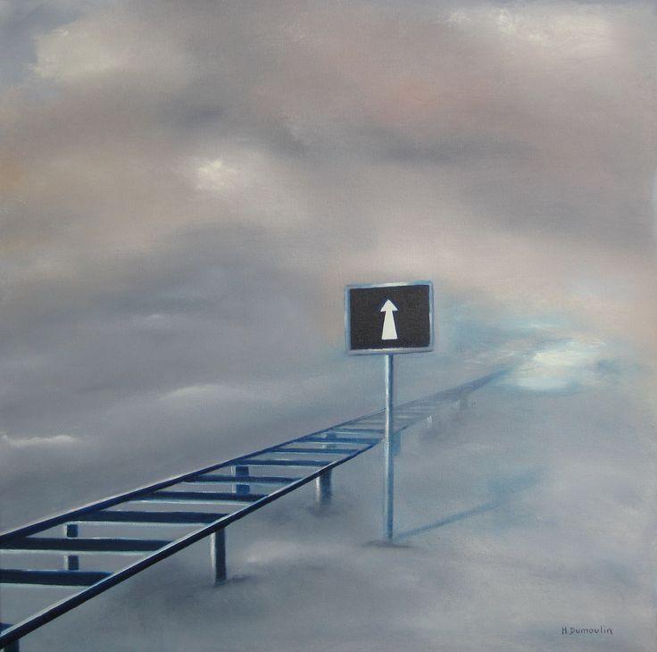 A découvrir au 9ème Salon de Peinture toutes techniques en ligne sur www.myrankart.com  Aller Simple by Martial Dumoulin