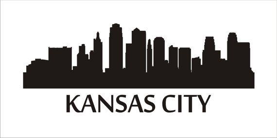 Kansas City Skyline  STENCILS 7 Sizes por SuperiorStencils en Etsy