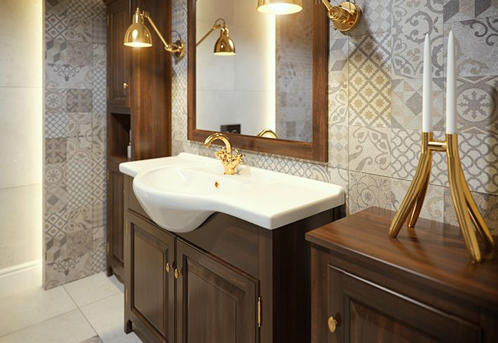 Defra - Drewniane meble łazienkowe – seria Klasis