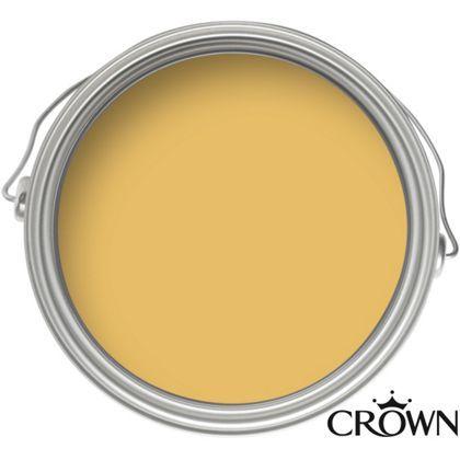 Crown Breatheasy Standard Mustard Jar - Matt Emulsion Paint - 2.5L