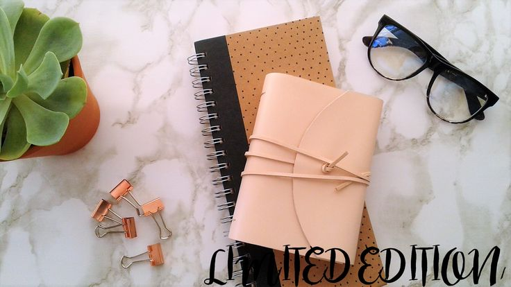 LIMITED EDITION PEACH LEATHER JOURNAL