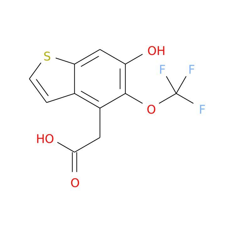 6-HYDROXY-5-(TRIFLUOROMETHOXY)BENZOTHIOPHENE-4-ACETIC ACID is now  available at ACC Corporation