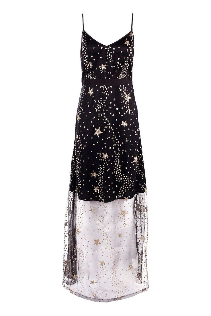 Boutique Lola Sequin Star Print Strappy Maxi Dressalternative image