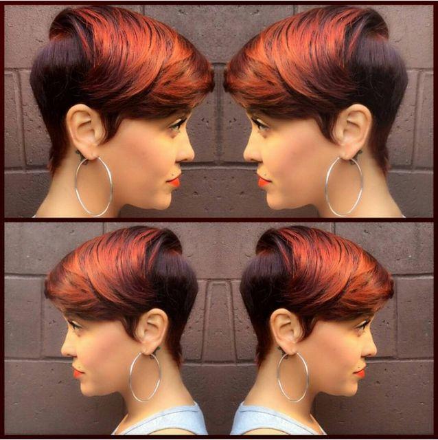 Burnt Orange Short Hairstyles for Black Women