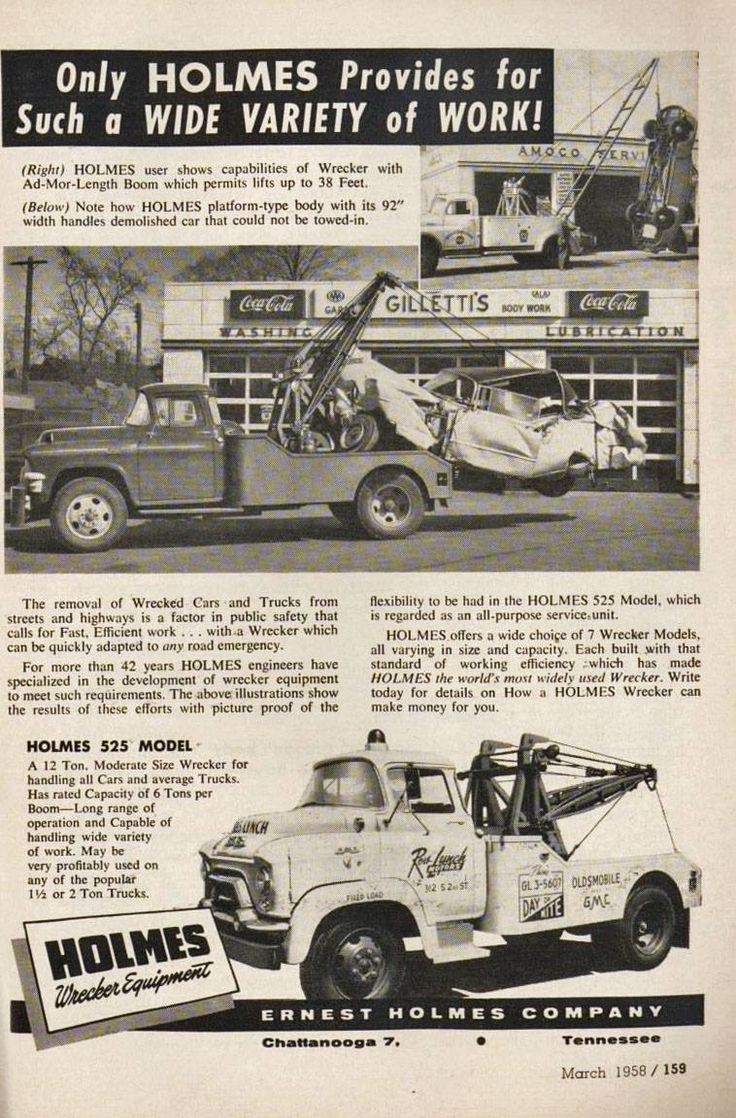 Gmc trucks tow truck custom trucks vintage advertisements vintage ads classic trucks chevy recovery buses