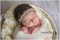 2016 estilo Caliente Niños de la manera joyería de la perla de las vendas Del Bebé accesorios para el cabello DIY Venda recién nacida al por menor