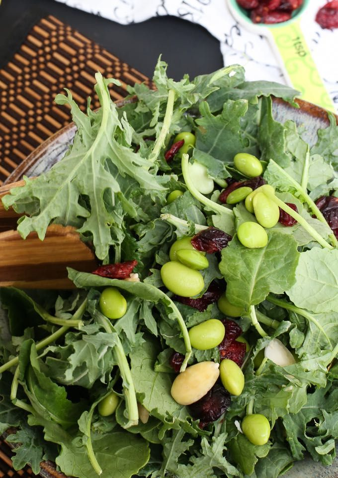Copycat Trader Joes Kale Edamame Salad Edamame Salad Summer