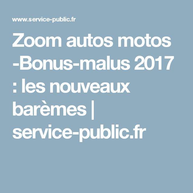 Zoom autos motos -Bonus-malus2017 : les nouveaux barèmes | service-public.fr