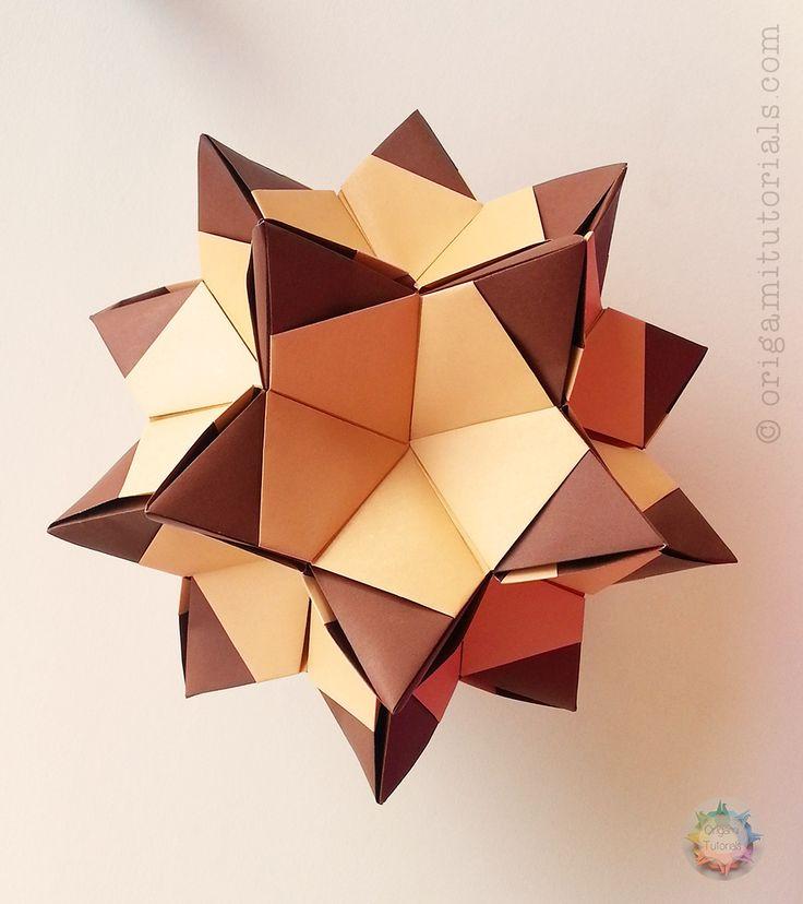 Origami Poison Ivy Kusudama Tutorial | Origami Tutorials