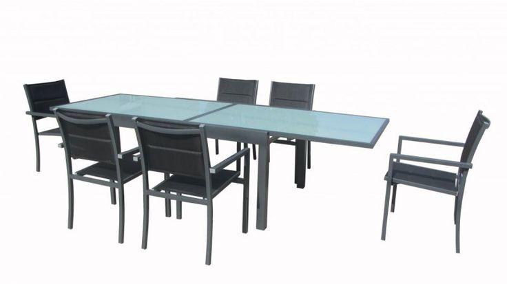 Hoy os dejamos con un conjunto de #Muebles de #Jardin compuesto de mesa extensible y 6 sillas acolchadas apilables.   http://catalogo.aki.es/jardin/muebles-de-jardin-y-complementos/conjuntos-de-comedor-extensibles