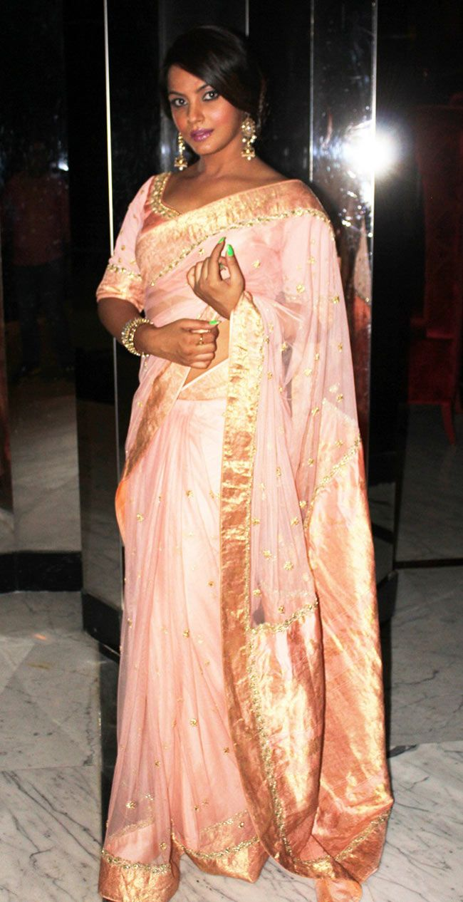 Neetu Chandra at her brothers engagement ceremony. #Style #Bollywood #Fashion #Beauty