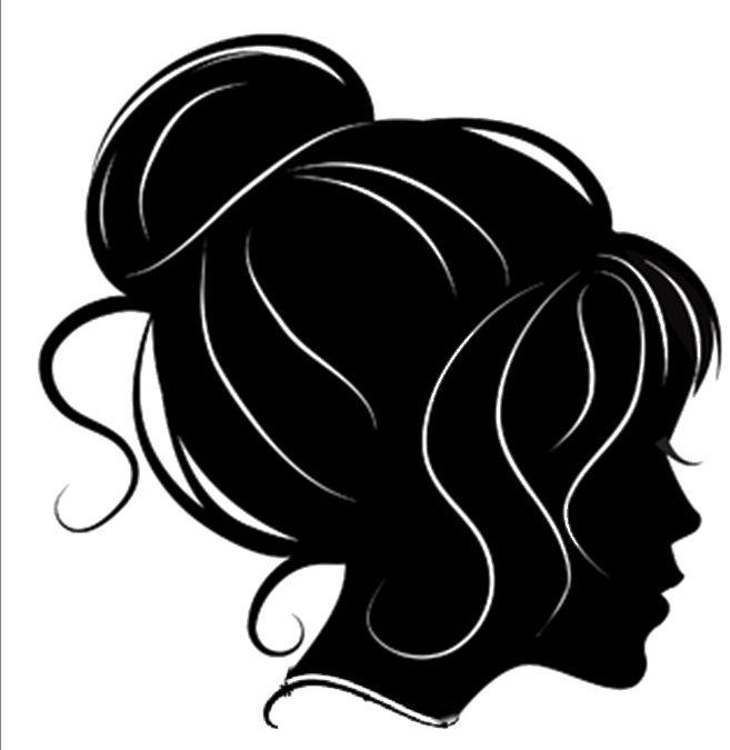Картинка черно белая волос
