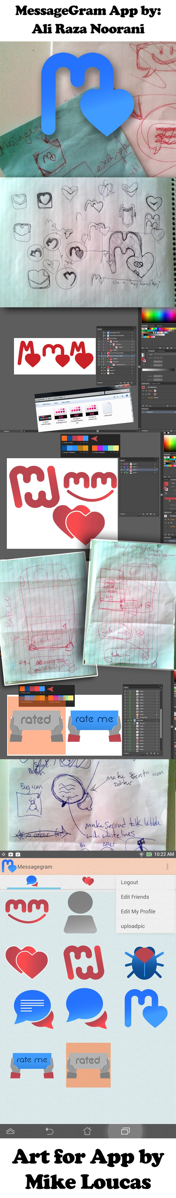 (in development) MessageGram App by: Ali Raza Noorani http://ca.linkedin.com/pub/ali-noorani/61/624/475     Art By: Mike Loucas https://www.linkedin.com/in/mikeloucas