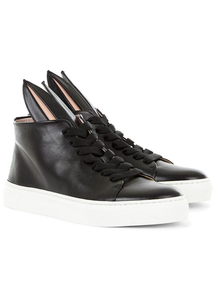 Black High-Top Bunny Sneakers Minna Parikka