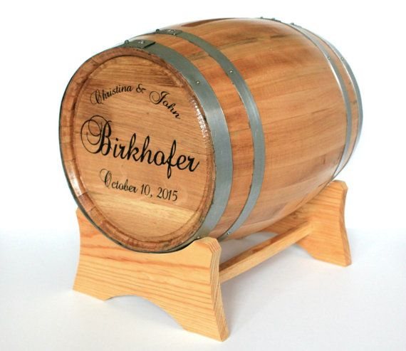 Hey, I found this really awesome Etsy listing at https://www.etsy.com/listing/251074910/wine-barrel-wedding-card-holder-engraved