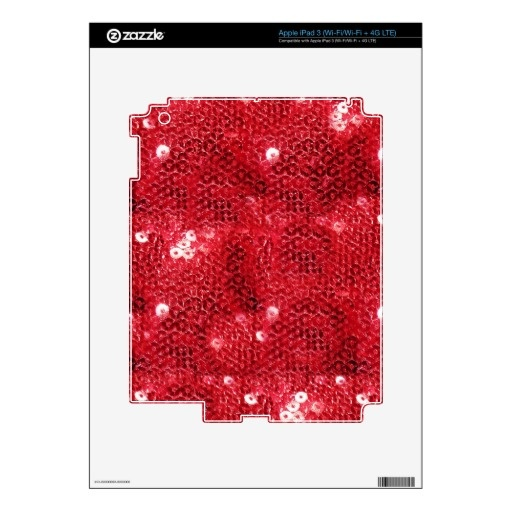 sold ! Red Sequin Image Background Skins For iPad 3 by IgotYourBack  shipping to San Diego, CA #sequins