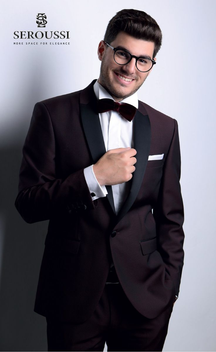 A very trendy burgundy tuxedo for special events from a gentleman's life