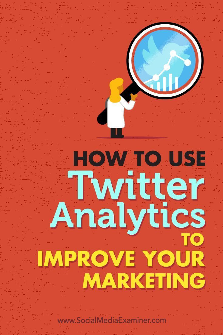Do you want better results from your Twitter marketing?  Interested in using Twitter Analytics to find out what's working?  Looking at your Twitter metrics will help you make more informed decisions about your Twitter marketing efforts. Via /smexaminer/.