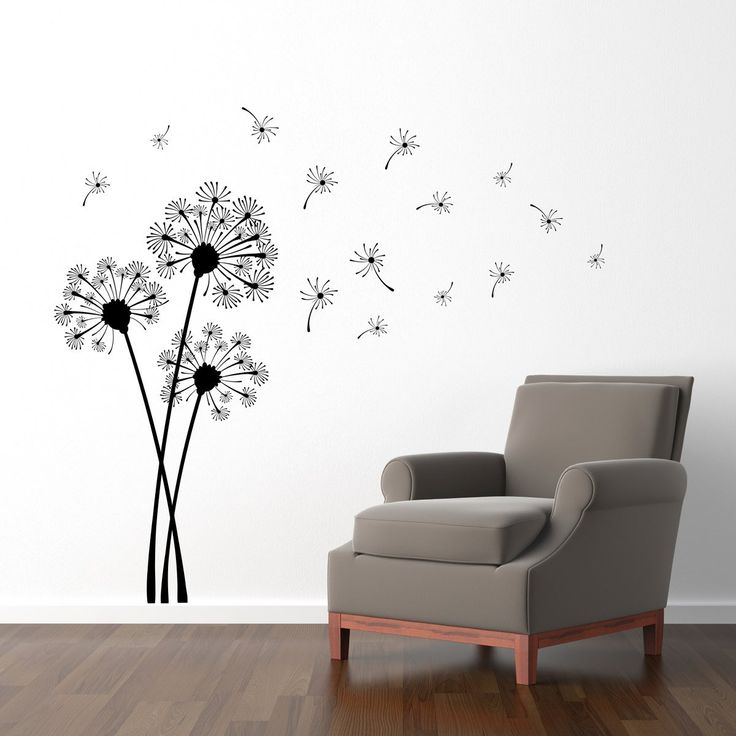 Superbe Dandelion Wall Decal   Dandelion Seeds Blowing In The Wind Sticker   Flower  Decor   Large