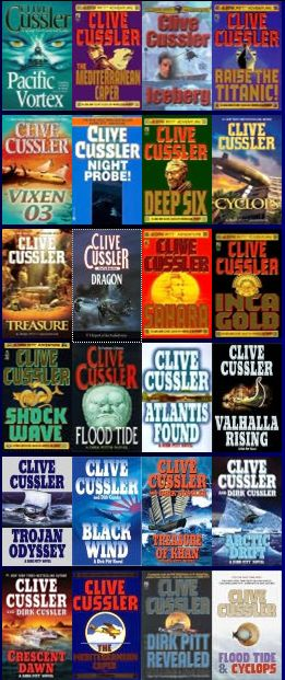 Clive Cussler novels --- my husband introduced me to this author and I haven't read one that was not a page turner