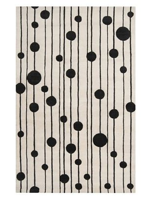 Surya Candice Olson Modern Classics Rug, Winter White/Jet Black, 5' x 8'