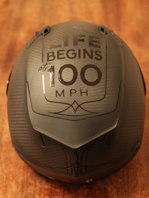 (Bell Star Carbon helmet), But it can also end, drive carefully!!!