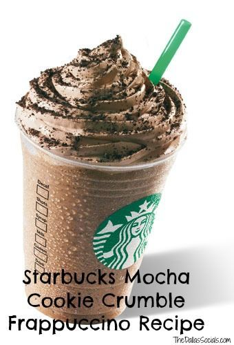 Starbucks Mocha Cookie Crumble Frappaccino Recipe - why have I never seen this before - oh summer coffee drinks how I love thee! Coffee drinks, coffee lover, coffee recipes