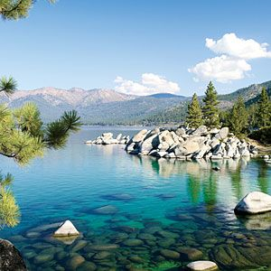 I have to go here someday..  Sparkling scenery at Lake Tahoe |