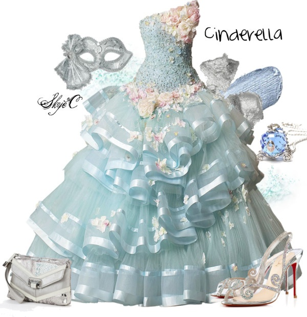 """""""Cinderella Inspired Outfit"""" by rubytyra on Polyvore"""