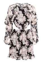 Šaty s volánky - Černá/květovaná - ŽENY   H&M CZ 2